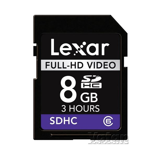 LEXAR 8 GB SDHC Full-HD VİDEO HAFIZA KARTI