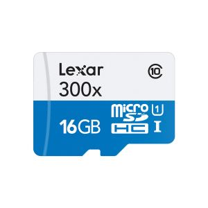 LEXAR 16GB microSDHC High Speed with Adapter (Class 10)