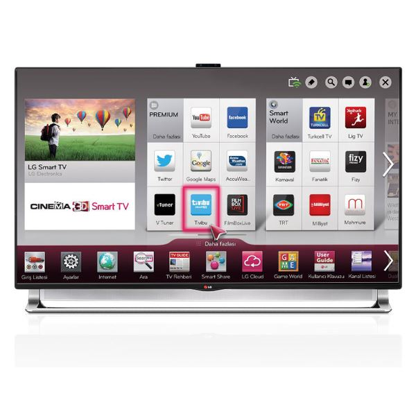 LG 55LA970V 55'' 139 CM,3D ULTRA HD LED SMART  TV,1000 HZ,DAHİLİ UYDU ALICI,WİFİ
