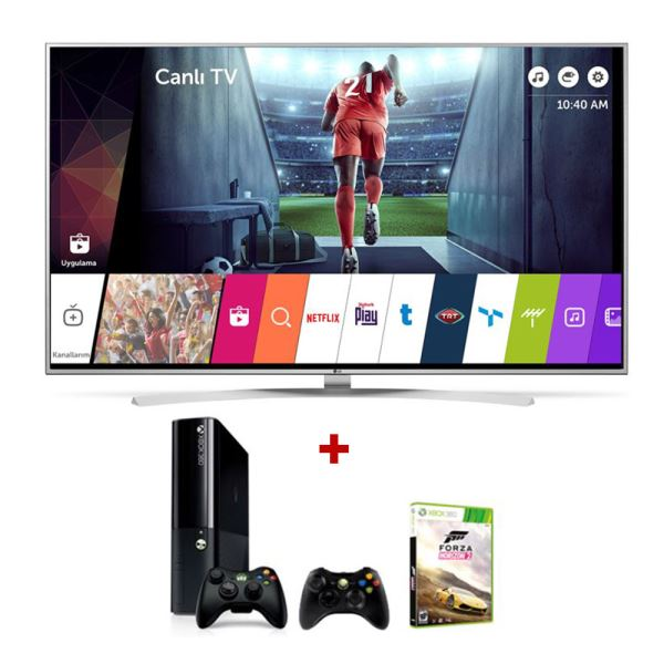 LG 49UH770V 4K SuperUHD Smart LED TV + MICROSOFT XBOX 360 Bundle Kampanyası