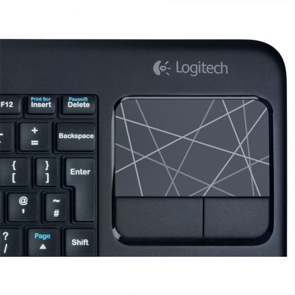LOGITECH K400 TOUCH UNIFYING WIRELESS KEYBOARD (BLACK)