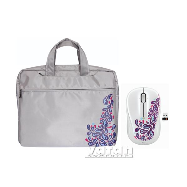 M325 WHITE PAISLEY MOUSE HEDİYELİ 15.6'' NOTEBOOK ÇANTASI