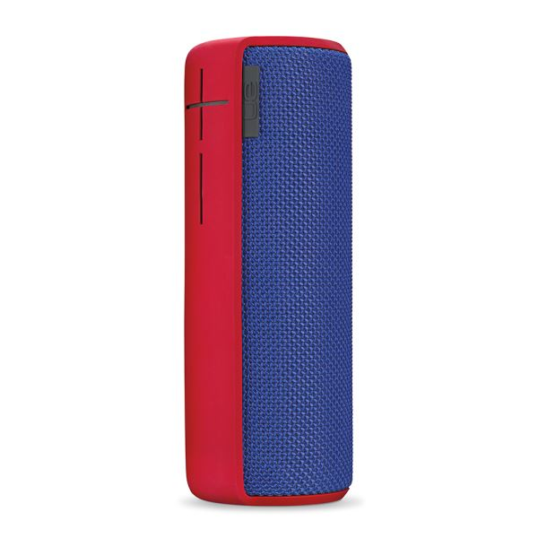 LOGITECH UE BOOM WIRELESS BLUETOOTH SPEAKER (SUPERHERO BLU FABRIC RED)