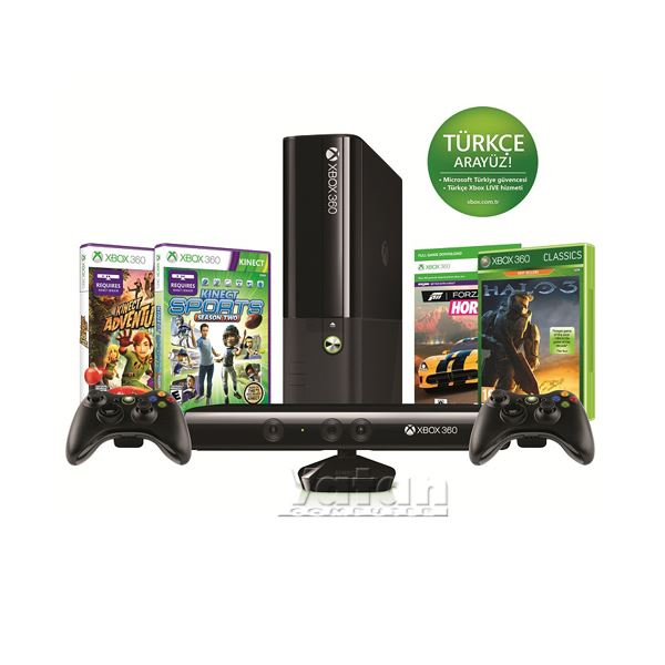 MICROSOFT XBOX 250GB KINECT + WIRELESS CONTROLLER + HALO3 + KINECT ADVENTURES
