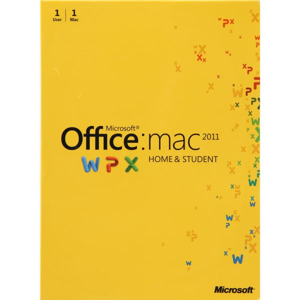 Office Mac Home Student 2011 English Middle East EM DVD