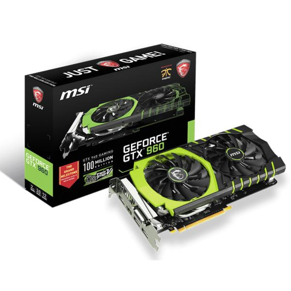 MSI GTX960 GAMING 100ME GDDR5 2GB 128Bit Nvidia GeForce DX12 Ekran Kartı