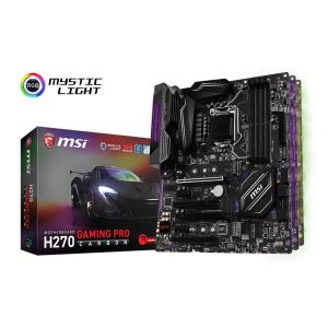 MSI H270 GAMING PRO CARBON Intel H270 Soket 1151 DDR4 2400MHz USB3.1 Anakart