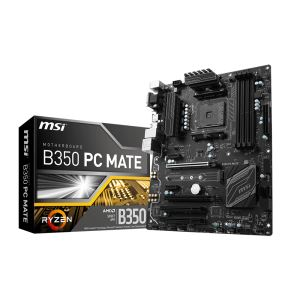 MSI B350 PC MATE AM4 AMD Ryzen™ DDR4 3200+MHz (O.C.) USB 3.1 Anakart