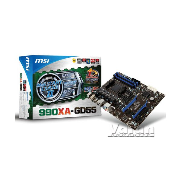 MSI 990XA-GD55 AM3+ AMD 990X+SB950 DDR3 2133MHz(O.C) USB 3.0 Anakart