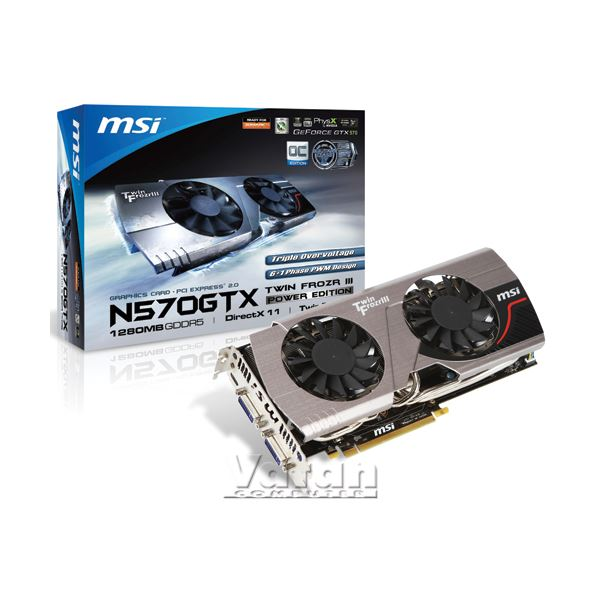 MSI GTX570 Twin Frozr III PE/OC GDDR5 1280MB 320Bit GeForce DX11 Ekran Kartı
