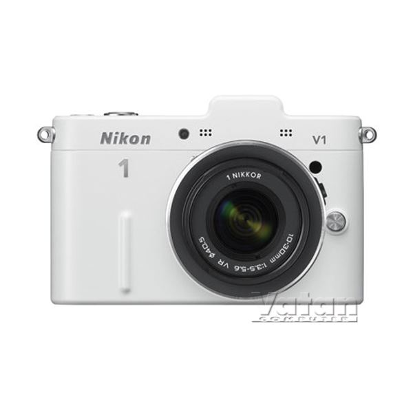 NIKON1 V1 WHITE KIT (10MM-30MM&30-110 MM) KIT 10.1 MP 3