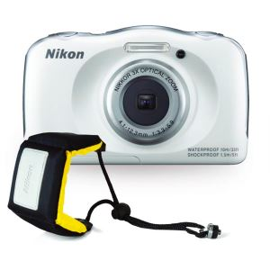 NIKON COOLPIX S33 13.2 MP DİJİTAL KOMPAKT FOTOĞRAF MAKİNESİ (WHITE HOLIDAY KIT)