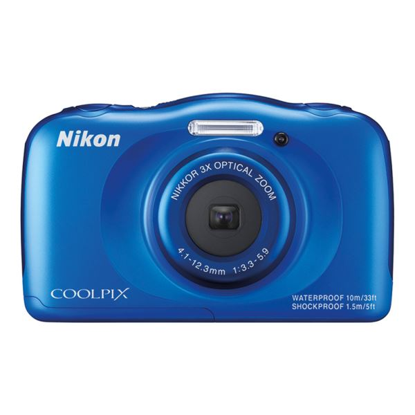 NIKON COOLPIX S33 13.2 MP DİJİTAL KOMPAKT FOTOĞRAF MAKİNESİ (BLUE BACKPACK KIT)