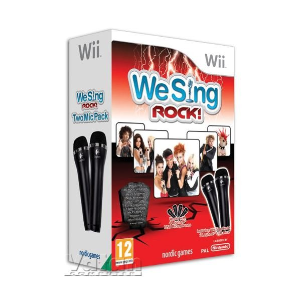 NINTENDO Wii We Sing Rock with 2 mic.