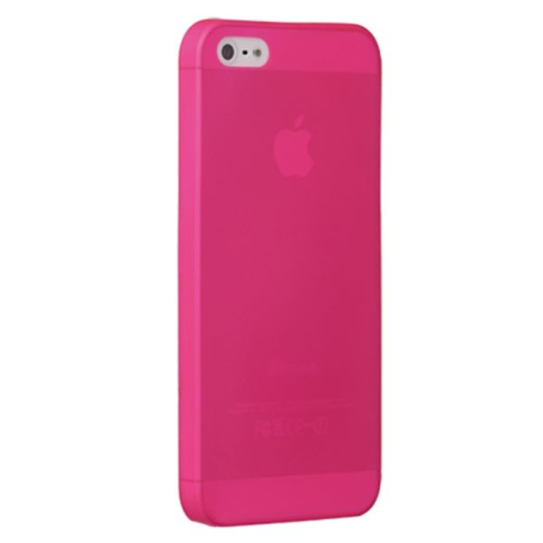 OZAKİ O!COAT 0.3 JELLY İPHONE 5/5S KILIFI + EKRAN KORUYUCU FİLM (PEMBE)