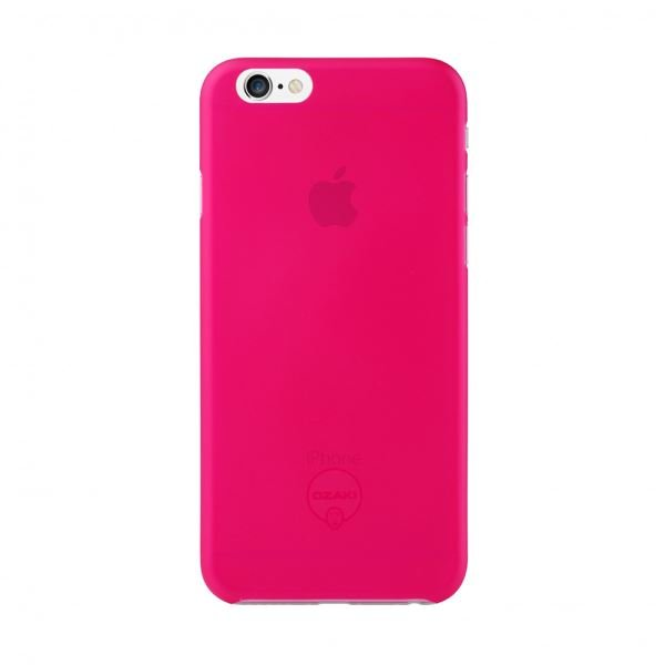 Ozaki O!coat 0.3 Jelly iPhone 6 Kılıfı + Ekran Koruyucu Film (Pembe)