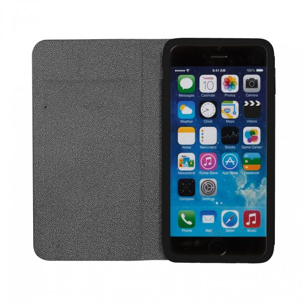 Ozaki O!coat aim+ Leather folio case with pocket iPhone 6 Kılıfı (Siyah)