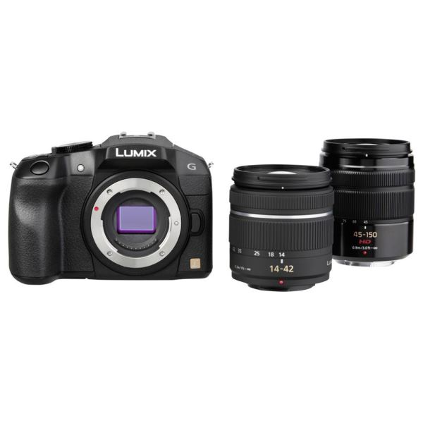 PANASONİC LUMIX DMC-G6W 14-42 + 45-150 16 MP DOUBLE LENS KIT FOTOĞRAF MAKİNESİ