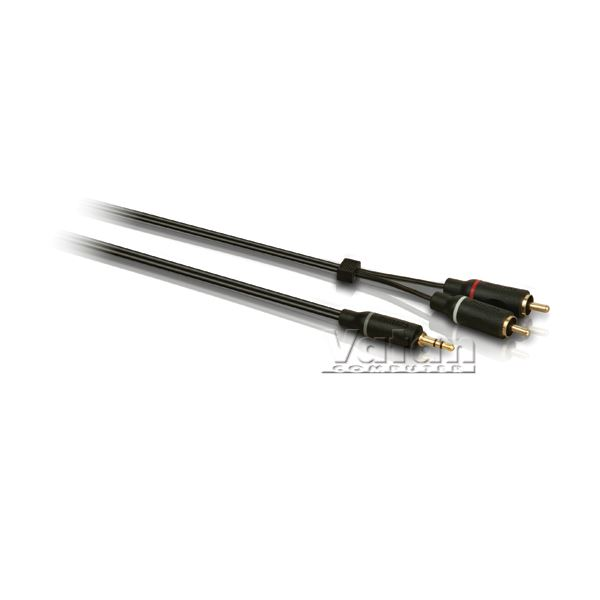 1,5 m Stereo Y Cable (3,5 mm M - 2 RCA M)