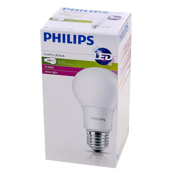 PHILIPS LED CorePro 6-40W E27 SARI