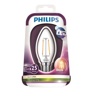 PHILIPS LED Filament 25W E14 MUM ŞEFFAF SARI