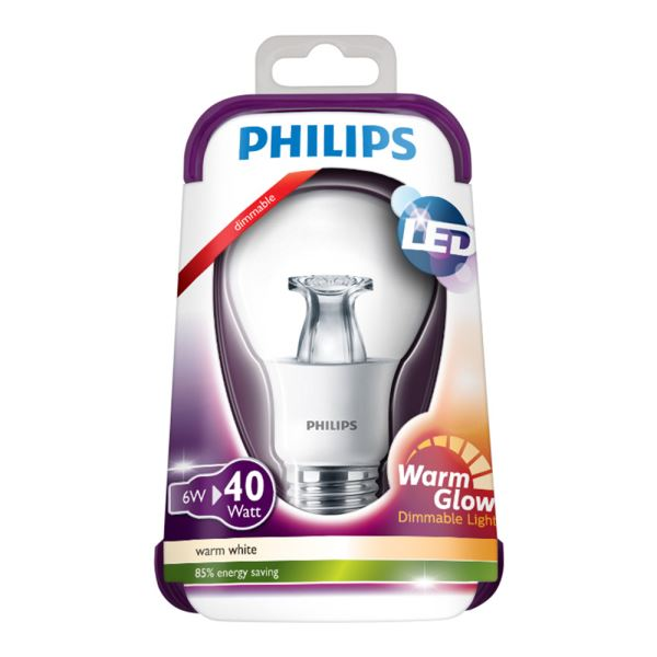 PHILIPS LED Warmglow 40W E27 ŞEFFAF DIM SARI