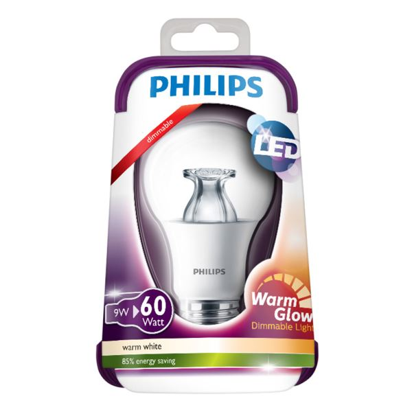 PHILIPS LED Warmglow 60W E27 ŞEFFAF DIM SARI
