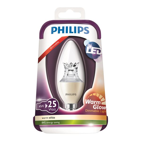 PHILIPS LED Warmglow 25W E14 ŞEFFAF DIM SARI