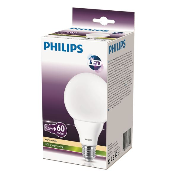 PHILIPS LED Globe 60W E27 SARI