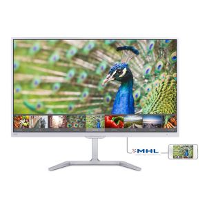 "PHILIPS 246E7QDSW-23.6"" 5 ms PLS FULL HD HDMI-MHL DVI VGA BEYAZ MONİTÖR"