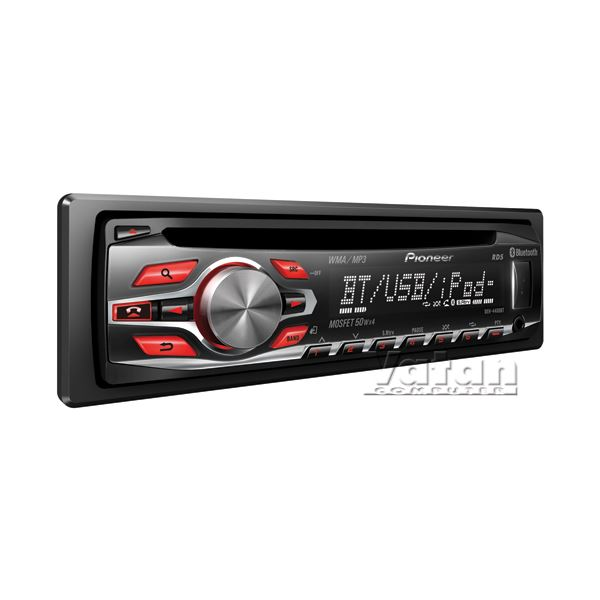 DEH-4400BT  CD/MP3/WMA/WAV/AAC Çalar, 50Wx4, USB, iPod, iPhone, Bluetooth