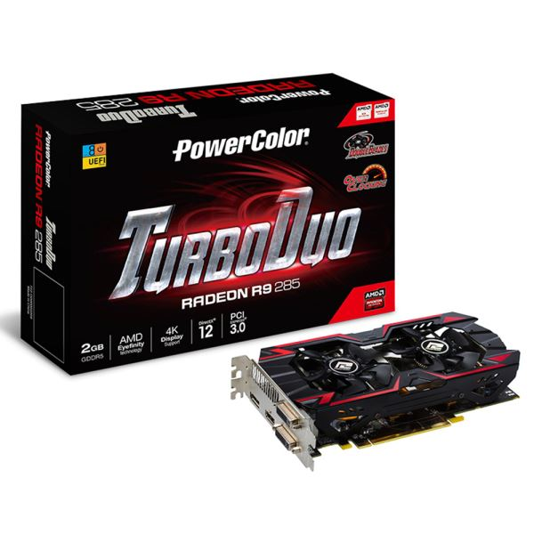 Powercolor R9 285 TurboDuo OC GDDR5 2GB 256Bit AMD Radeon DX11.2 Ekran Kartı