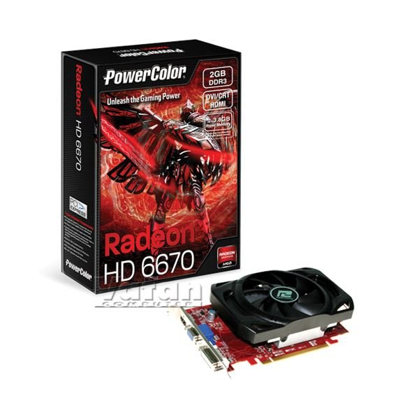 Powercolor HD6670 GDDR3 2GB 128Bit AMD Radeon DX11 Ekran Kartı