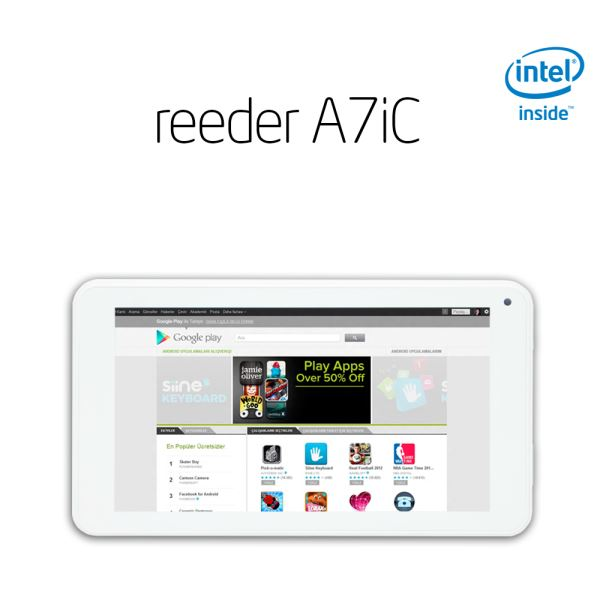 REEDER A7iC DUAL CORE INTEL ATOM Z2520 1.2GHZ-2GB-8GB DİSK-7''-CAM-BT-AND.4.4