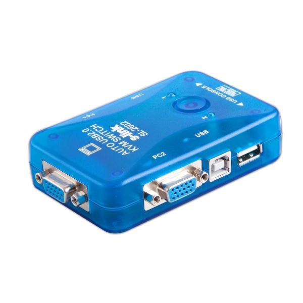 SL-2602 USB DEN OTOMATİK 2 PORT KWM SWITCH