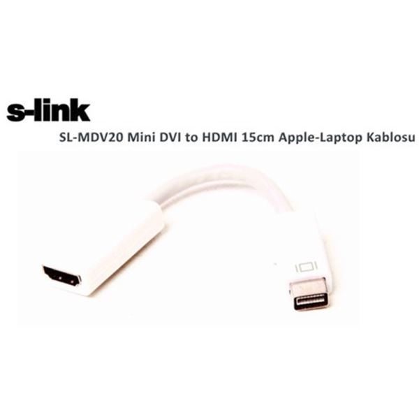 SL-MDV20 MINI DVI DAN HDMI APPLE MAC KABLOSU 15CM