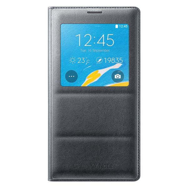 EF-CN910BCEGWW S-VİEW COVER GALAXY NOTE4 KILIFI- (SİYAH)