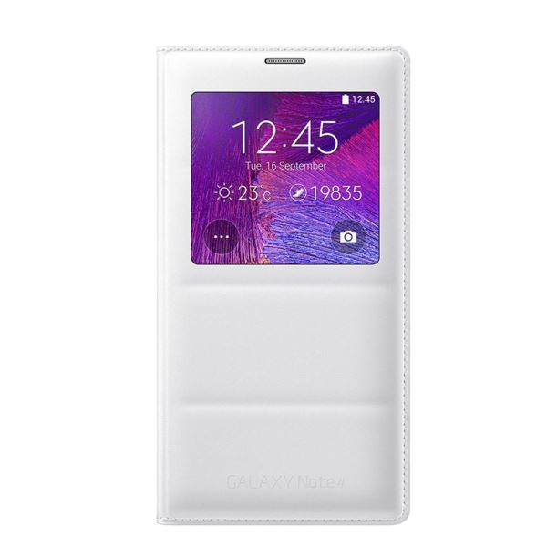 EF-CN910BWEGWW S-VİEW COVER GALAXY NOTE4 KILIFI- (BEYAZ)