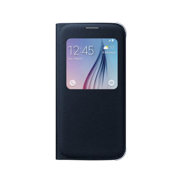 EF-CG920BBEGWW SAMSUNG GALAXY S6 S-VİEW COVER FABRİC SİYAH