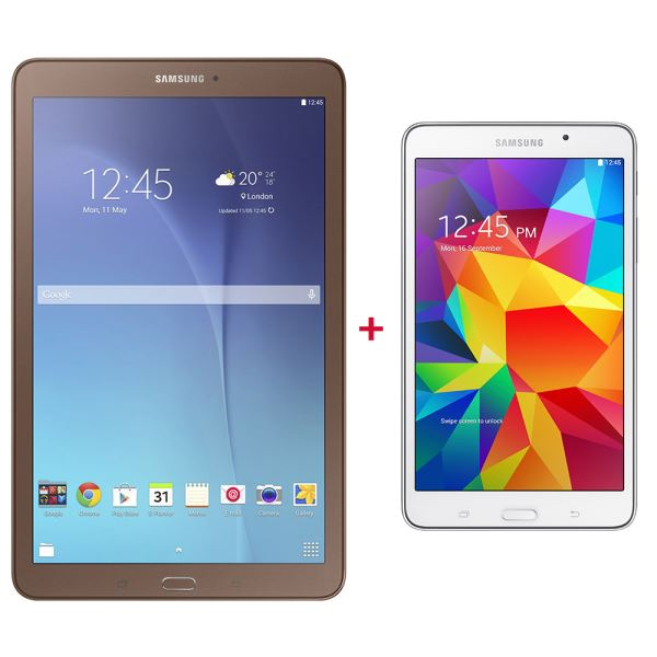 T560 BROWN SAMSUNG TABLET +T230 WHITE TABLET