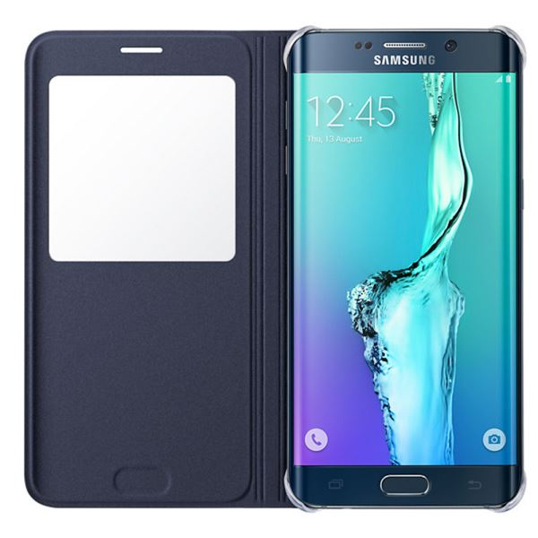 EF-CG928PBEGTR S-VİEW COVER GALAXY S6 EDGE PLUS DERİ KILIF- (SİYAH)