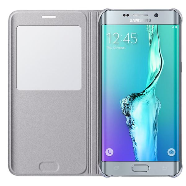 EF-CG928PSEGTR S-VİEW COVER GALAXY S6 EDGE PLUS DERİ KILIF- (GÜMÜŞ)