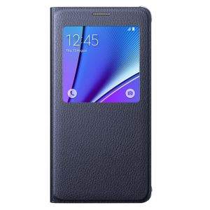 EF-CN920PBEGTR S-VİEW COVER GALAXY NOTE5 KILIF- (SİYAH)