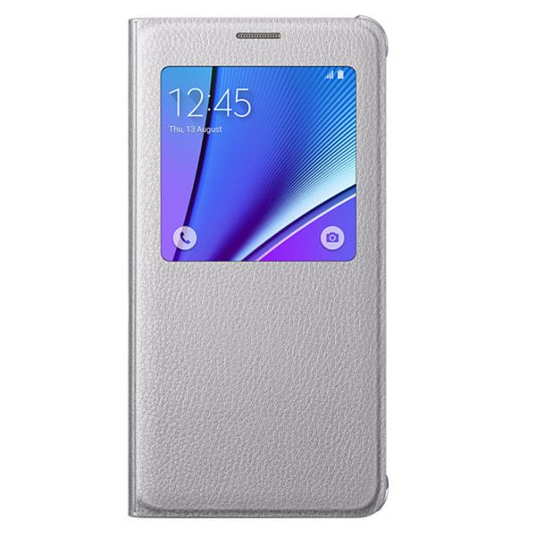 EF-CN920PSEGTR S-VİEW COVER GALAXY NOTE5 KILIF- (GÜMÜŞ)