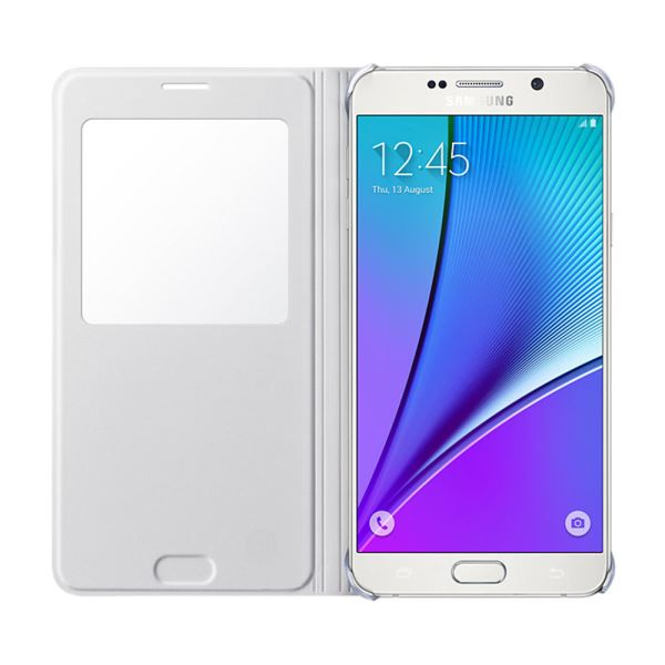 EF-CN920PWEGTR S-VİEW COVER GALAXY NOTE5 KILIF- (BEYAZ)