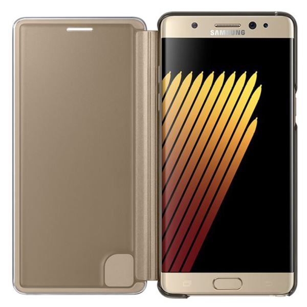 EF-ZN930CFEGWW GALAXY NOTE7 CLEAR VİEW FONKSİYONEL KILIF- (GOLD)