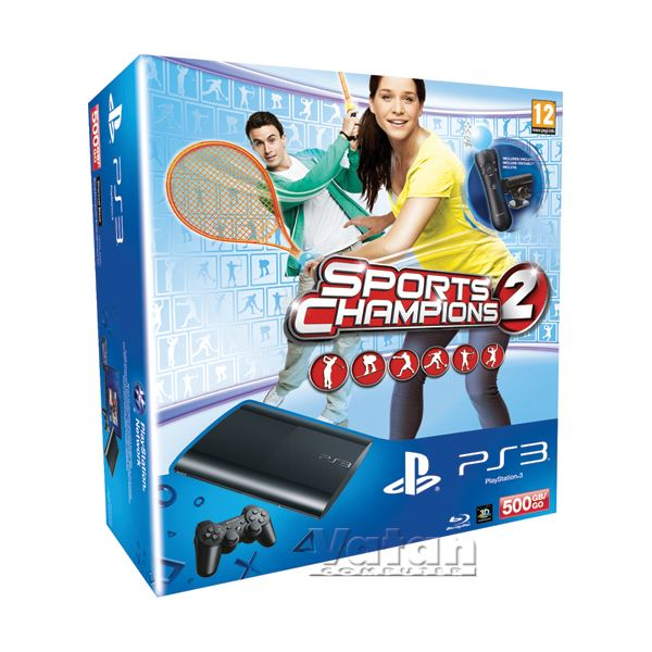 SONY PS3 500GB + SPORTS CHAMP.2 + PS EYE CAMERA + PS MOTİON CONTROLLER