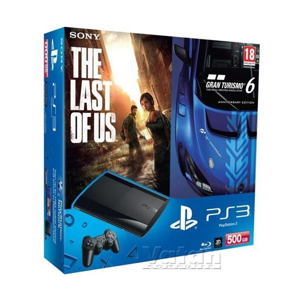 SONY PS3 500GB + GRANTURISMO 6 + THE LAST OF US OYUN KONSOLU