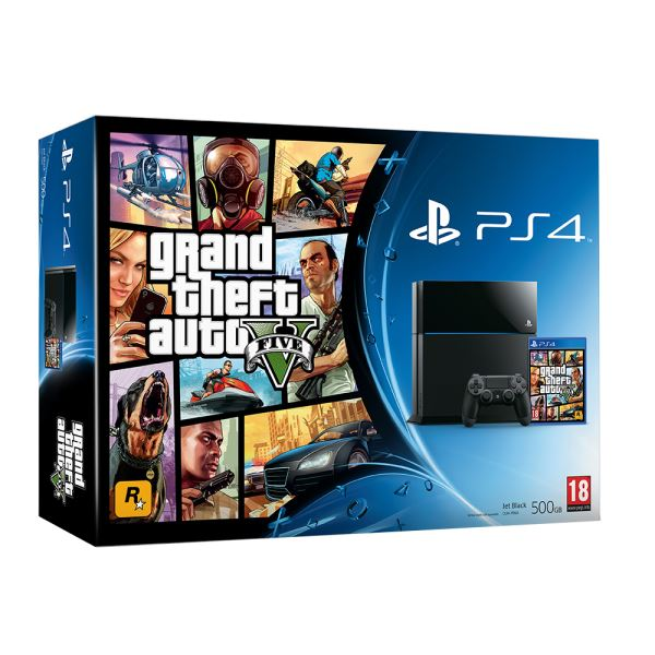 SONY GTA V / PS4 500GB A  / TUR OYUN KONSOLU