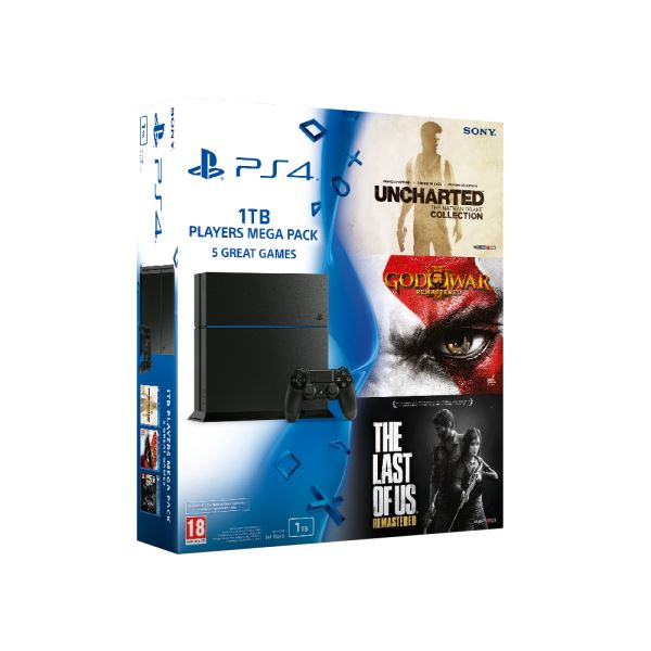 SONY Uncharted + God Of War III + The Last Of Us / PS4 1 TB C / TUR OYUN KONSOLU